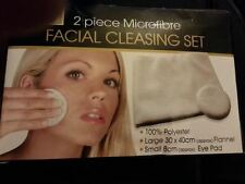 NEW YOU 2 Piece Microfibre Facial Cleansing Set - Eye/Pad/Flannel/Skin/Cleanser