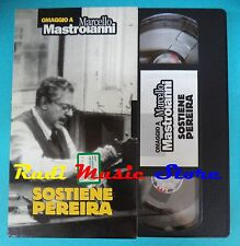 VHS film cartonata SOSTIENE PEREIRA 1995 Mastroianni Braschi l'unità(F92) no dvd