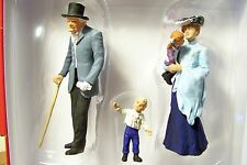 Preiser G scale 1:22.5 Old Time Man with Cane, Lady & Children Figures 45066 NIB