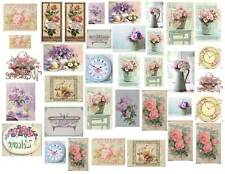 Dollhouse Miniature Shabby Chic Decals 1:12 Scale Pictures Signs #6