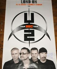 THE EDGE HAND SIGNED U2 LONDON WEMBLEY 360 CONCERT POSTER UACC REGISTERED DEALER