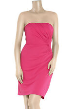 100% Real ISSA strapless Pink Dress Uk 12 14 Party Cocktail Evening £350 Bandeau