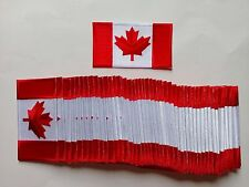 "Lot of 50 Canada Flag Embroidered Patches 4.5""x2.5"""