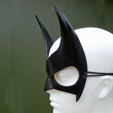 BATWOMAN Mask Leather Batgirl Batman Robin Costume Halloween Fancy Dress Mask