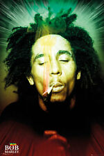 BOB MARLEY - SMOKING POSTER - 24x36 WEED POT MARIJUANA MUSIC 34072