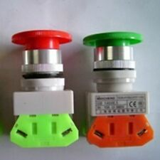 10A Red Green Momentary Emergency Stop Mushroom Pushbutton Switch 22mm Hole * 1