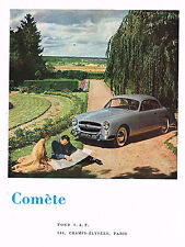 PUBLICITE ADVERTISING 0314   1953   FORD   la COMETE