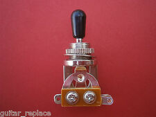 Selector Toggle Cromado Tip Negro Switch 3 Posiciones Guitarra LP 335