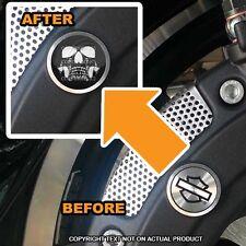 Brembo Front Brake Caliper Insert Set For Harley - GHOST SKULL BLK - 088