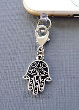 Hamsa Hand cell phone Charm Anti Dust proof Plug ear jack For iPhone C228