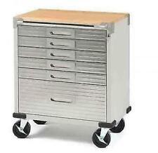 Seville Classics Rolling Tool Cabinet 6-Drawer Stainless Steel Box Chest Storage