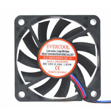 Evercool EC6010M12CA 60mm x 10mm Ball Bearing 12v Medium Speed Cooling Fan 3 pin