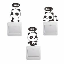 Removable Panda Home Window Light Switch Stickers Funny Wall Decal Vinyl 3PCS