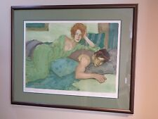 Malcolm Liepke Seduction in Blue & Green Print Lithograph Lim Ed Framed Signed