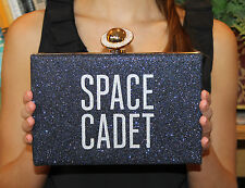 "KATE SPADE ""OVER THE MOON JETT"" SPACE CADET NIGHT SKY CLUTCH BAG"