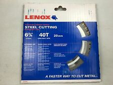 "Lenox 21878, 6-3/4"" Titanium Carbide-Tipped Steel Cutting Saw Blade NIB"