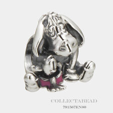 Authentic Pandora Sterling Silver Pink Enamel Disney Eeyore Bead 791567EN80
