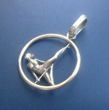 Pole Dance GIRL pendant necklace charm Stangentanz Stripper Dancer Aerial hoop