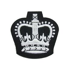 Badge Crown Army Warrant Officers Class 2 Crown WO2 Crown SNCO White Black R1819