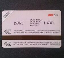 ♞SCHEDE TELEFONICHE♞ITALY♞ SIP valore 145€ Urmet Bianca AA P14 NUOVA♞♞♞♞♞♞