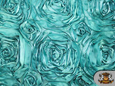 """ROSETTE SATIN FABRIC JADE GREEN  / 54"""" WIDE / SOLD BY THE YARD"""
