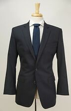 $2595 DOLCE & GABBANA Navy Blue Pinstriped Wool Suit 36 S