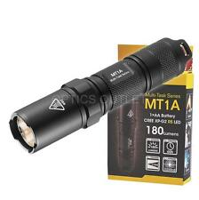 NiteCore MT1A 180 Lumen Compact Mini LED Flashlight w/ Clip - Uses 1x AA Battery