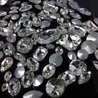 MIXED Shapes Sizes Crystal Clear Rhinestones Crystal Glass Chatons Strass