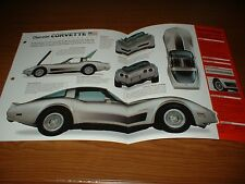 ★★1982 CORVETTE COLLECTOR EDITION ORIGINAL IMP BROCHURE SPECS INFO 82 C3 SILVER★