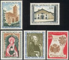 Monaco 1968 Abbey/Buildings/Architecture/Religion/Heritage/Saints 5v set n45217