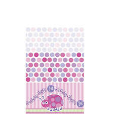 "54"" x 84"" Pink Ladybug Girl's Happy 1st Birthday Party Plastic Table Cover"