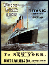Titanic Cruise Ship Metal Sign, Ocean, Gameroom, Bar Decor, History, Sailing