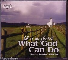READERS DIGEST It is No Secret WHAT GOD CAN DO Country Inspiration NEW 4CD 60s