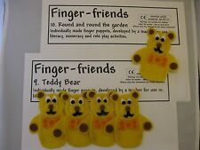 Finger puppets Teddy bears Round and round the garden - pre-school activity