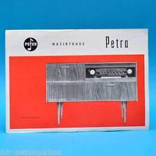Musiktruhe Petra 1966   Werbezettel Werbung DDR Peter Tonmöbelfabrik Plauen