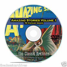 Amazing Stories Vol 1, 76 Vintage Pulp Magazine, Fiction, Hugo Gernsbeck DVD C31