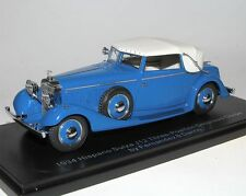 ESVAL MODELS, 1934 hispano suiza j12 DHC, Fernandez & Darrin, Blue, closed, 1/43