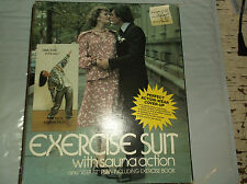 Vintage 1980 Exercise Suit w/ Sauna Action 2 pc unisex OSFA in box FREE SHIPPING