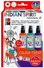 Marabu Fashion Spray Set - Spray Paint for Fabric T Shirts etc - INDIAN SPIRIT