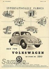 VINTAGE VW VOLKSWAGEN BEETLE CAR ADVERTISING A3 POSTER PRINT