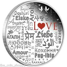 LANGUAGE OF LOVE 2016 - 2016 2 oz Pure Silver Proof Coin - Perth Mint