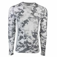 Under Armour Men's HeatGear Sonic Print Fitted L/S Shirt White Camo/Steel 2XL