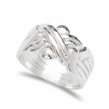 925k Sterling Silver 6 Band Turkish Puzzle Ring - Sizes from 5 to 13