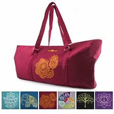 Peace Yoga® Burgundy Yoga Mat Carrier Tote Bag With Adjustable Straps - Henna
