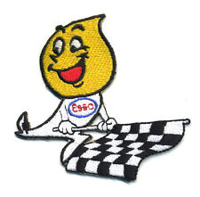 esso drip patch badge motor oil hot rod drag race checkered flag racing gas