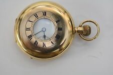 Wonderful Thomas Russell & Son Half Hunter pocket Watch 1914 9ct