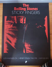 "ROLLING STONES ""Sticky Fingers"" LA Fonda Theatre 2015 Litho numbered"