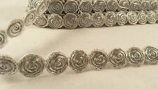 *Beautiful silver woven trim lace for crafting fasshion designing decor  1M