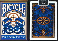DRAGON BACK BICYCLE DECK BLUE EDITION PLAYING CARDS POKER SIZE MAGIC TRICKS