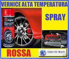 BOMBOLETTA VERNICE SPRAY ALTA TEMPERATURA ROSSA RED PER PINZA FRENO AUTO TUNING
